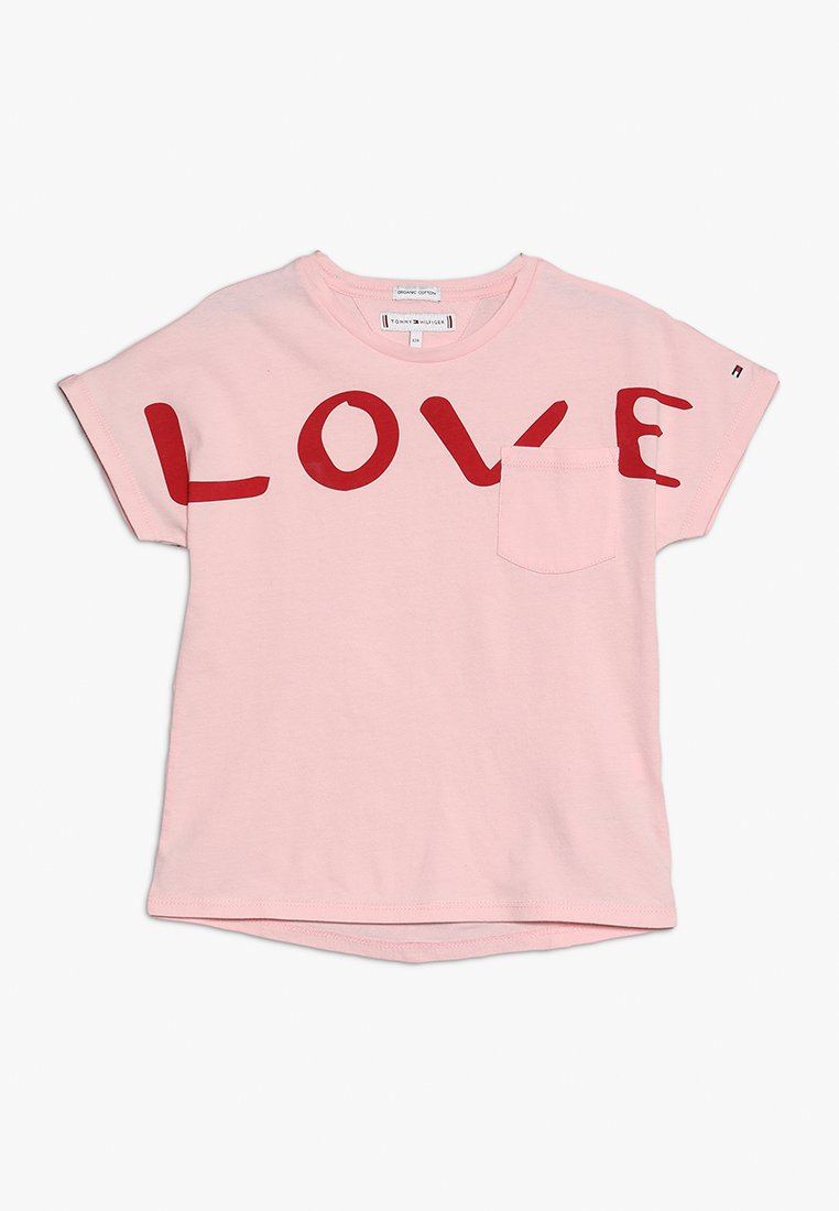 Tommy Hilfiger - BOLD TEXT GROWN ON TEE - Print T-shirt - pink