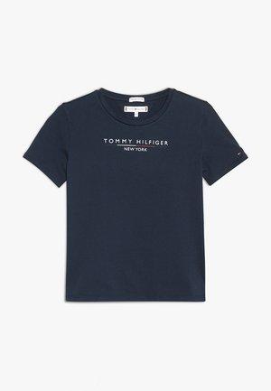 ESSENTIAL HILFIGER TEE  - Print T-shirt - blue