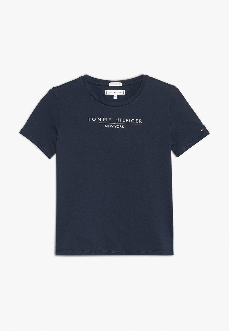 Tommy Hilfiger - ESSENTIAL HILFIGER TEE  - T-shirt print - blue