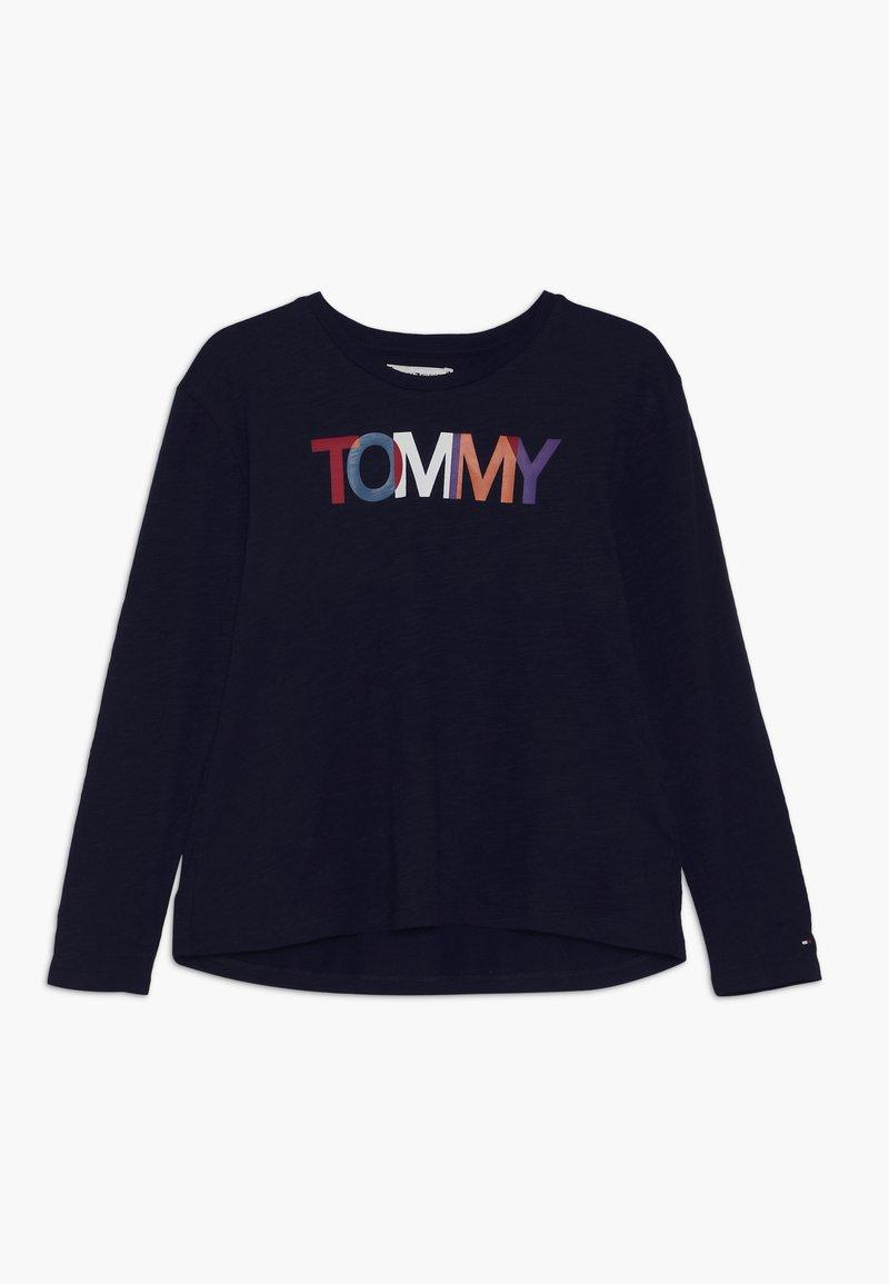 Tommy Hilfiger - SLUB GRAPHIC PRINT TEE - Langarmshirt - blue