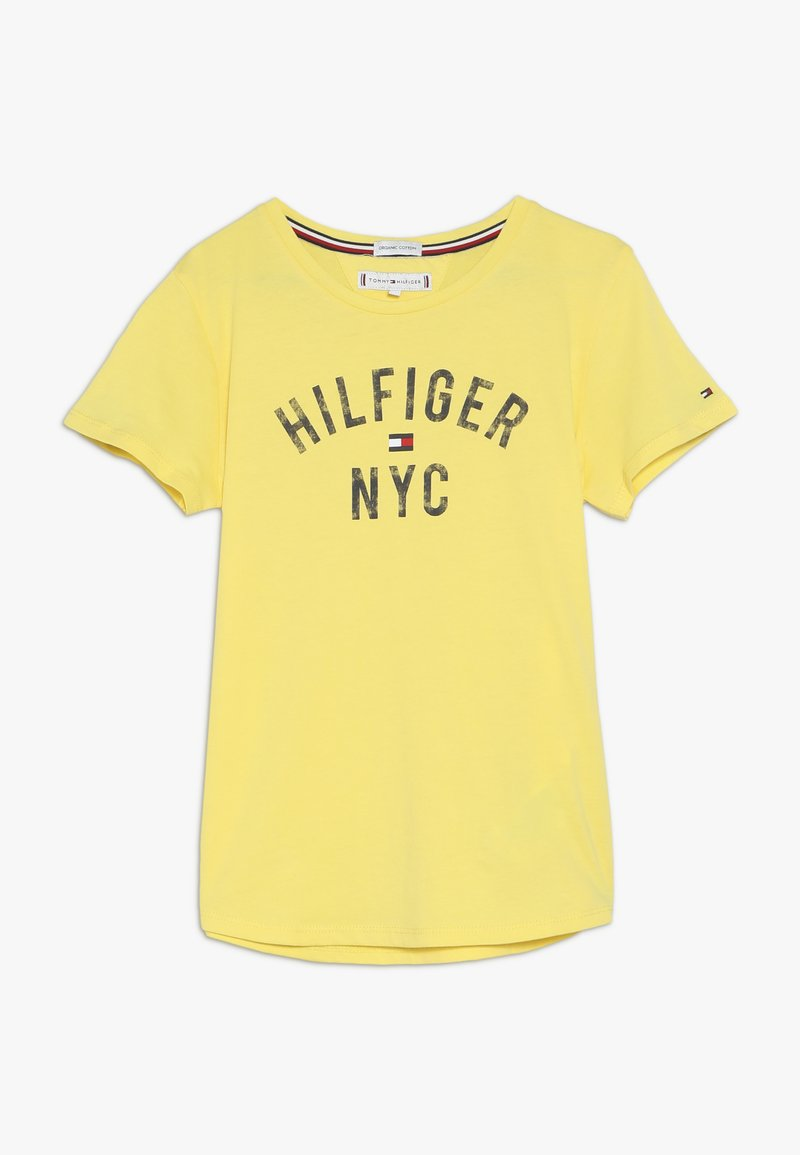 Tommy Hilfiger - ESSENTIAL PRINT TEE - T-shirt con stampa - yellow