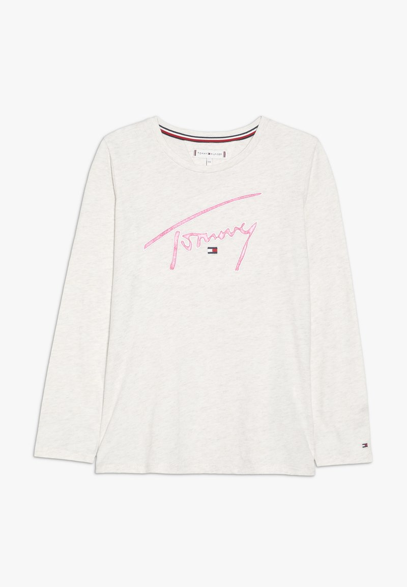 Tommy Hilfiger - SIGNATURE TEE - Langarmshirt - off-white