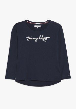 SEQUINS GRAPHIC TEE  - Långärmad tröja - blue