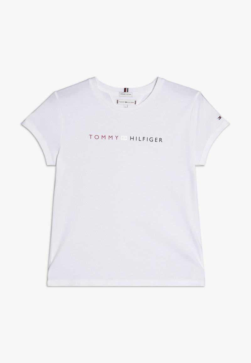 Tommy Hilfiger - ESSENTIAL TOMMY ROLL UP TEE - Triko s potiskem - white