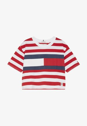 STRIPE FLAG TEE  - Print T-shirt - white