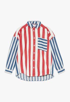 OVERSIZED STRIPED  - Button-down blouse - white