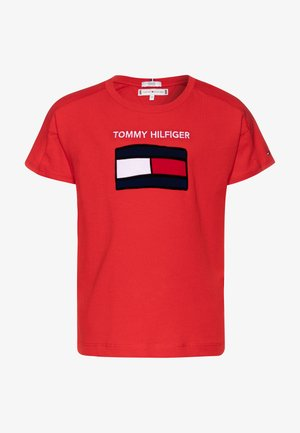 FUN GRAPHIC FLAG TEE  - T-shirts med print - red