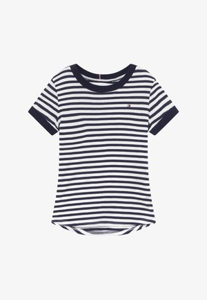 ESSENTIAL STRIPE - Print T-shirt - white