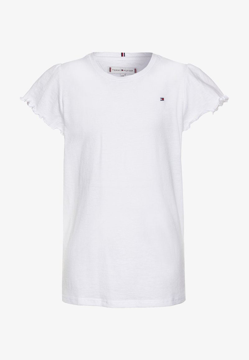Tommy Hilfiger - ESSENTIAL RUFFLE SLEEVE  - T-shirt basic - white