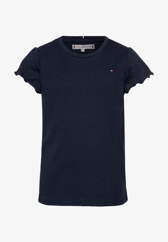 ESSENTIAL RUFFLE SLEEVE  - T-shirt basic - blue