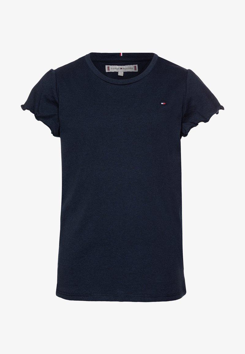 Tommy Hilfiger - ESSENTIAL RUFFLE SLEEVE  - Camiseta básica - blue