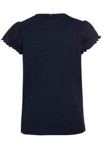 Tommy Hilfiger - ESSENTIAL RUFFLE SLEEVE  - Camiseta básica - blue - 1