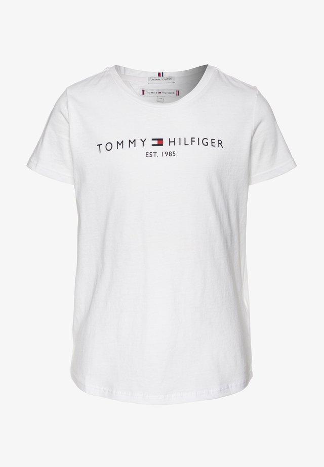 ESSENTIAL TEE  - Camiseta estampada - white