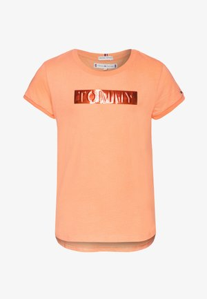 LABEL TEE - T-shirt print - orange