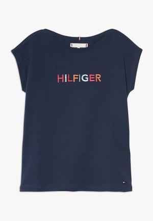 MULTI COLOUR GRAPHIC TEE - Camiseta estampada - blue