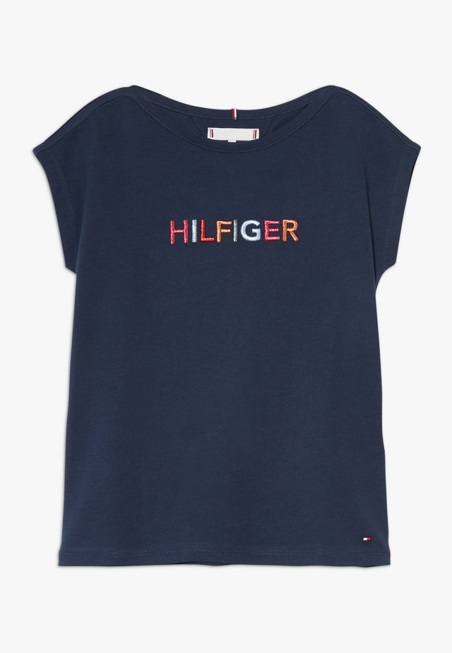 MULTI COLOUR GRAPHIC TEE - T-shirt print - blue