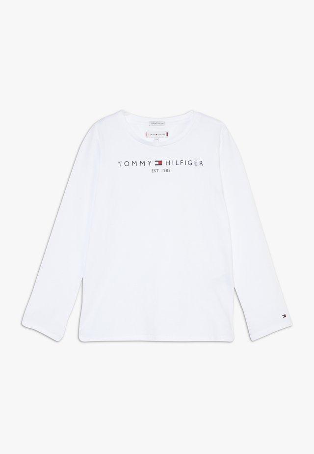 ESSENTIAL - Pitkähihainen paita - white