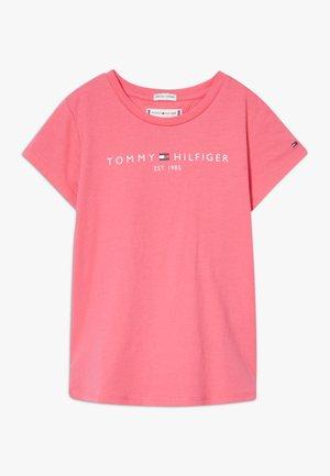 ESSENTIAL TEE - T-shirt z nadrukiem - pink