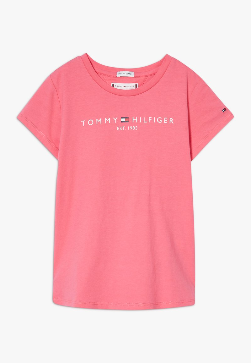 Tommy Hilfiger - ESSENTIAL TEE - T-shirt z nadrukiem - pink