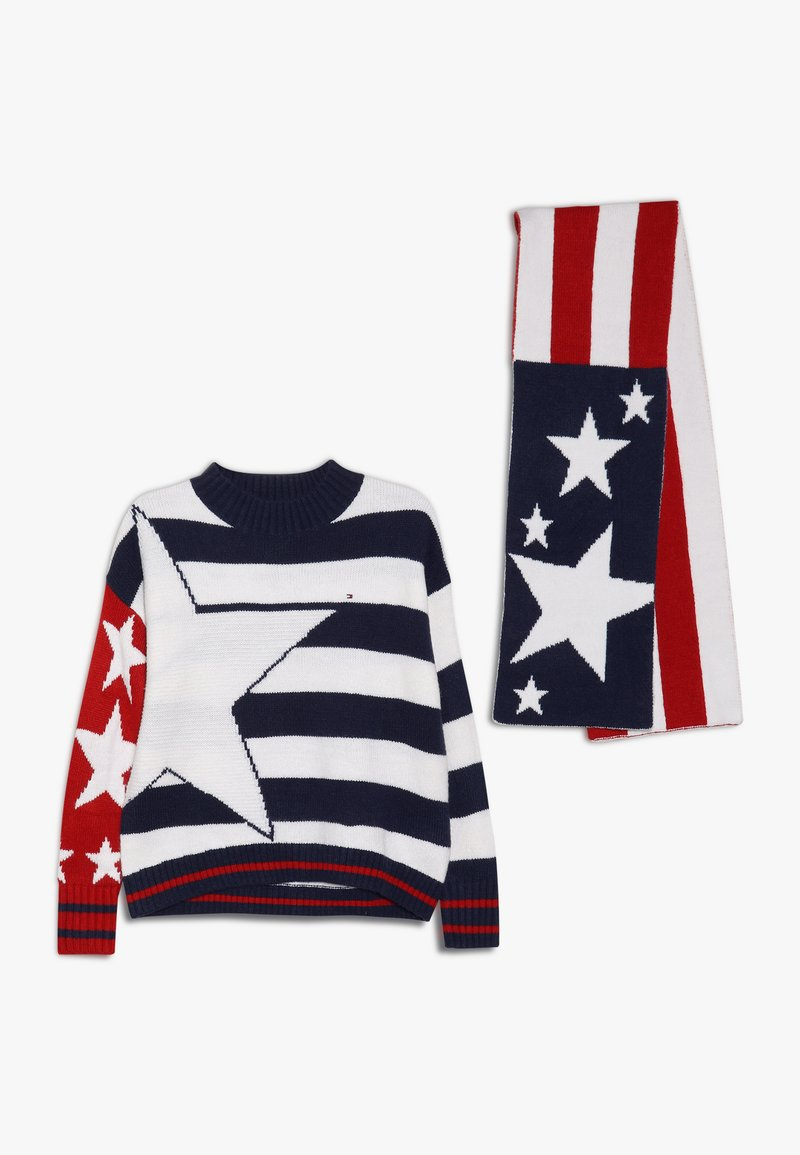 Tommy Hilfiger - STARS AND STRIPES SCARF SET - Svetr - white