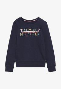 Tommy Hilfiger - ICONIC LOGO CREW  - Sweatshirt - blue - 3