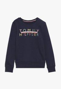 Tommy Hilfiger - ICONIC LOGO CREW  - Sweatshirt - blue - 0