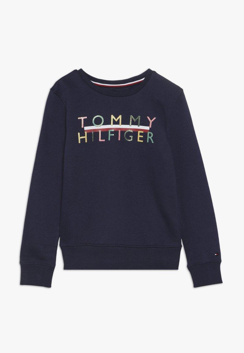 Tommy Hilfiger - ICONIC LOGO CREW  - Sweatshirt - blue