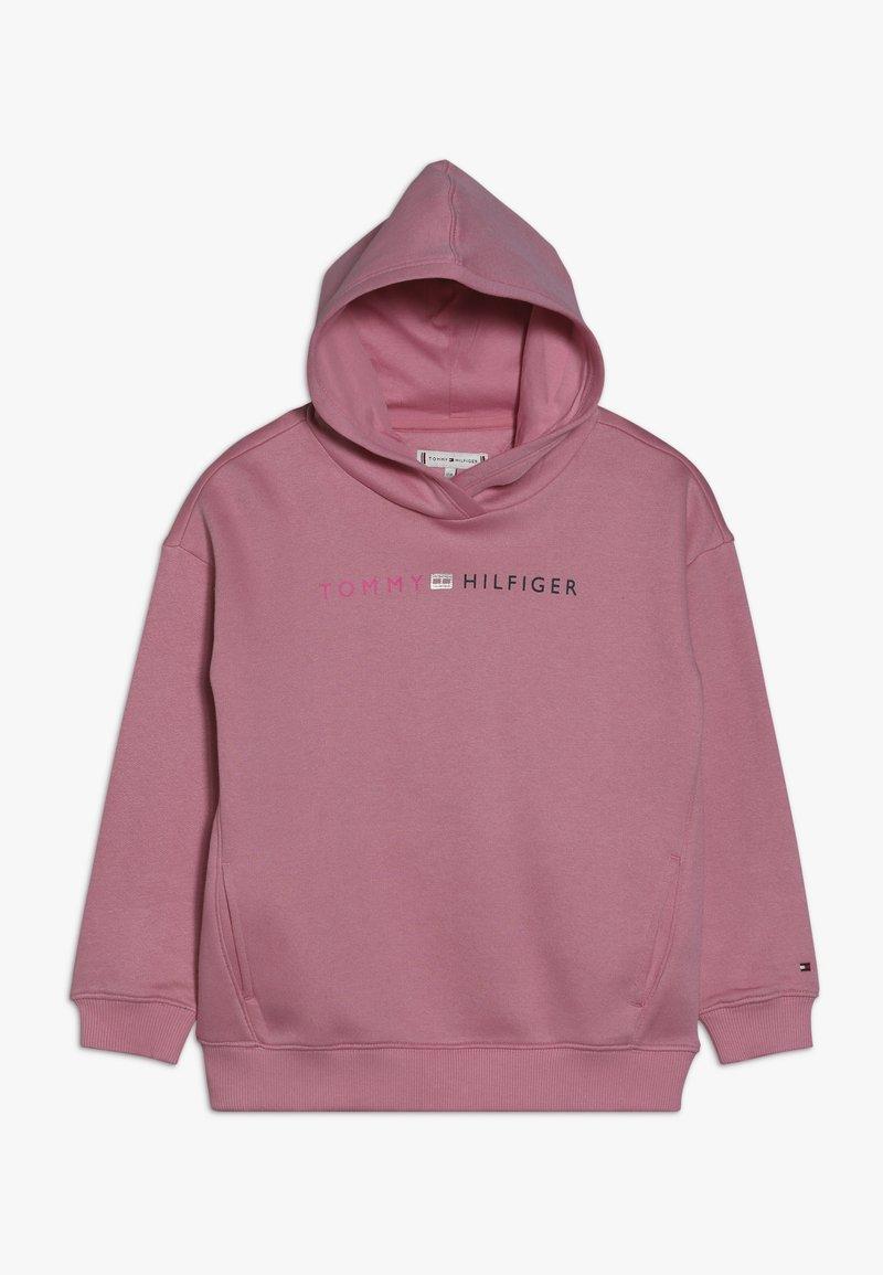 Tommy Hilfiger - ESSENTIAL LOGO HOODIE - Bluza z kapturem - pink