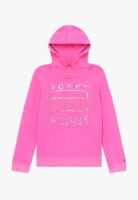 Tommy Hilfiger - ESSENTIAL FLAG HOODIE - Jersey con capucha - pink - 0