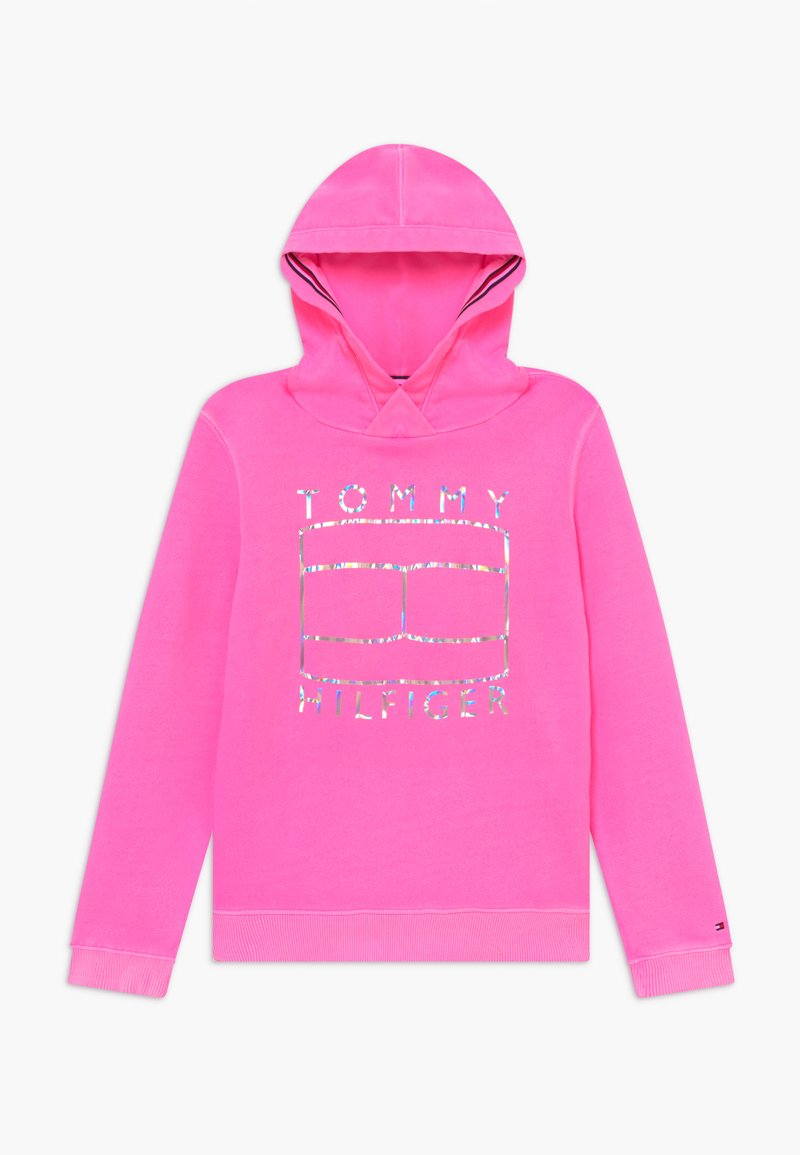 Tommy Hilfiger - ESSENTIAL FLAG HOODIE - Jersey con capucha - pink