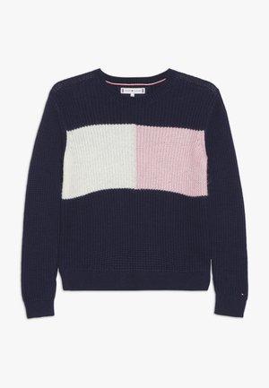 ESSENTIAL COLOURBLOCK  - Stickad tröja - blue