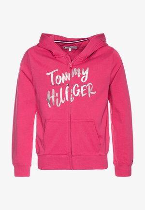 GRAPHIC ON GRAPHIC ZIP THROUGH - Hoodie met rits - pink