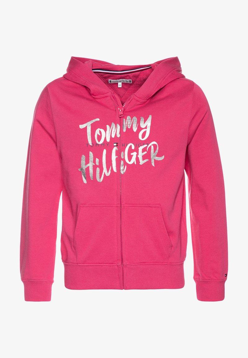 Tommy Hilfiger - GRAPHIC ON GRAPHIC ZIP THROUGH - Zip-up hoodie - pink
