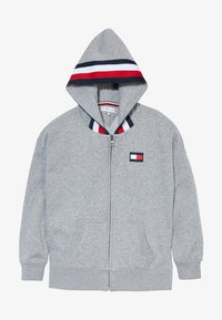 Tommy Hilfiger - GLOBAL STRIPE DETAIL - Mikina na zip - grey - 3
