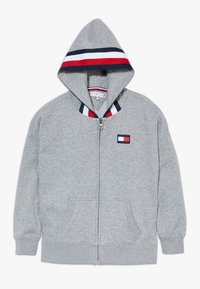 Tommy Hilfiger - GLOBAL STRIPE DETAIL - Mikina na zip - grey - 0