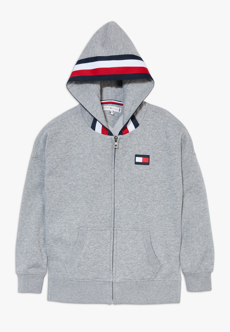 Tommy Hilfiger - GLOBAL STRIPE DETAIL - Mikina na zip - grey