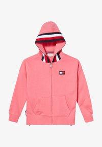Tommy Hilfiger - GLOBAL STRIPE DETAIL - Zip-up hoodie - pink - 2