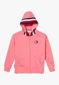 Tommy Hilfiger - GLOBAL STRIPE DETAIL - Zip-up hoodie - pink - 0