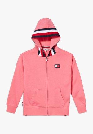 GLOBAL STRIPE DETAIL - Zip-up hoodie - pink