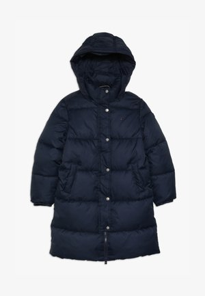 RECYCLED EXTRA LONG PUFFER - Veste d'hiver - blue