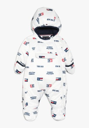 BABY PRINTED SKISUIT - Snowsuit - bright white
