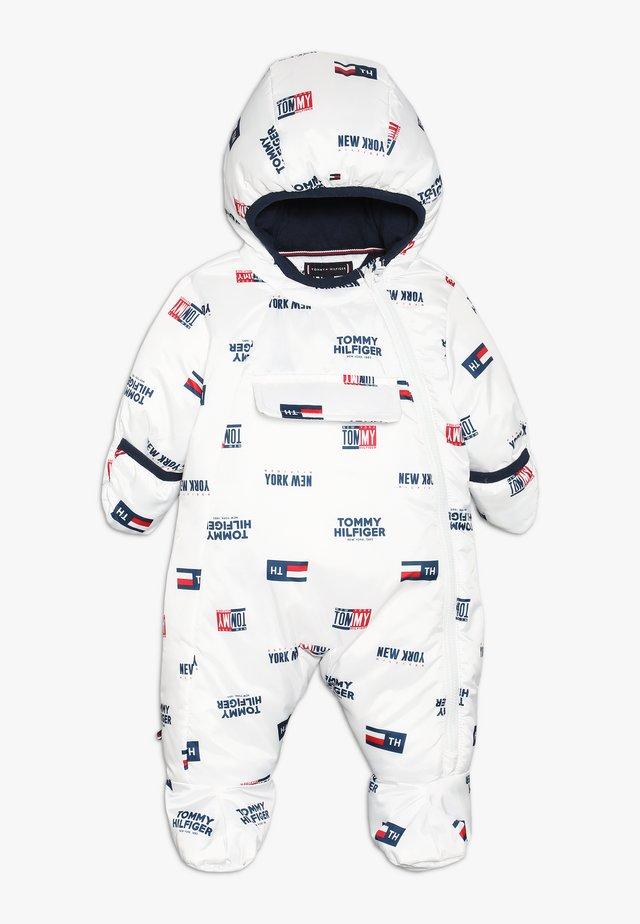 BABY PRINTED SKISUIT - Mono para la nieve - bright white