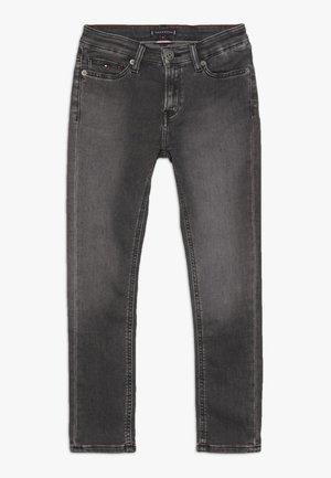 SIMON  - Jeansy Skinny Fit - sliga black grey stretch
