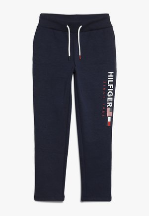 FLAG INTERLOCK PANTS - Teplákové kalhoty - blue