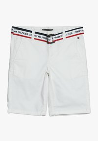Tommy Hilfiger - ESSENTIAL DOBBY BELTED - Shorts - white - 0