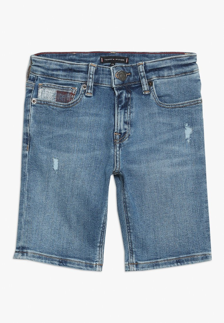 Tommy Hilfiger - STEVE SLIM TAPERED - Denim shorts - authentic mid blue stretch