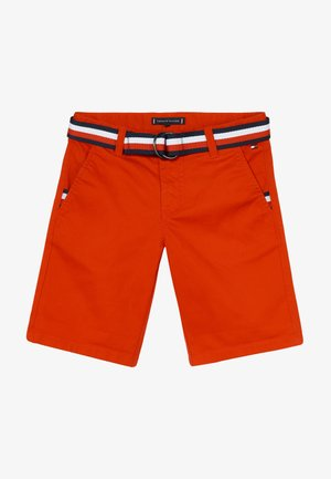 ESSENTIAL BELTED - Shorts - red