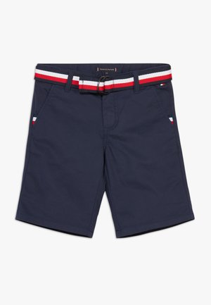 ESSENTIAL BELTED - Shorts - blue