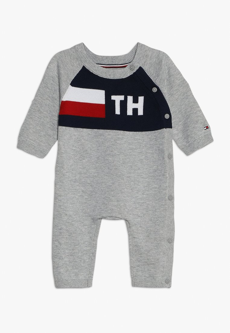 Tommy Hilfiger - BABY COVERALL - Jumpsuit - grey heather