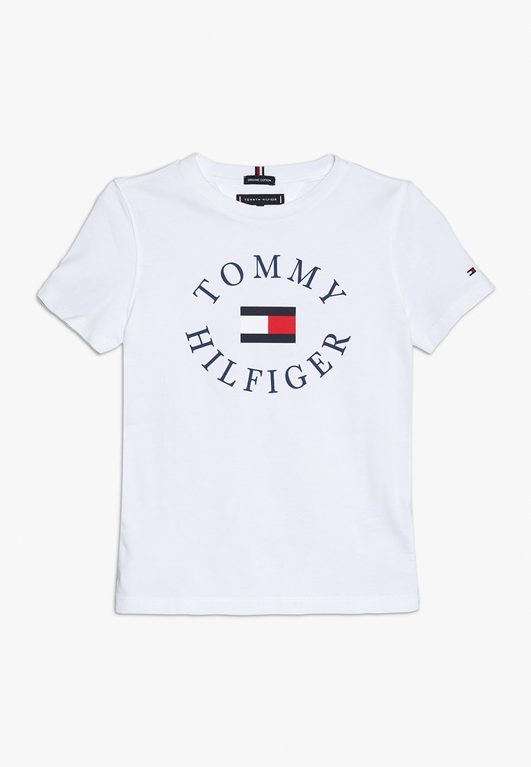 Tommy Hilfiger - ESSENTIAL GRAPHIC TEE - T-shirt med print - white